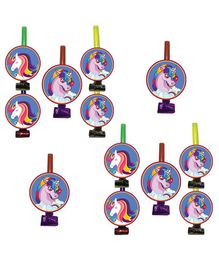 Party Propz Unicorn Blow Out Multi Colour - Pack of 12