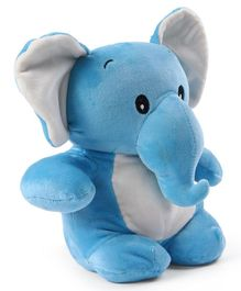 My Baby Excels Elephant Plush Soft Toy Blue - Height 28 cm