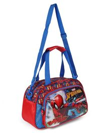 Spiderman Duffle Bag Red & Blue - Height 8.2 inches