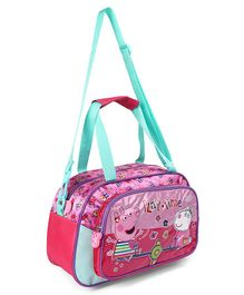 Peppa Pig Duffle Bag Pink & Blue - Height 8.2 inches
