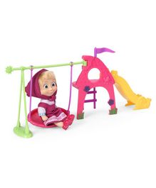 Masha and the Bear Doll With Playground Accessories Pink - Height 9.5 cm
