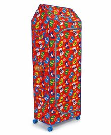 Ratnas 5 Shelves Almirah Butterfly Print (Color & Print May Vary)- Red