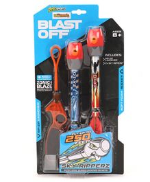 Zing Air Storm Sky Ripperz Blast Off Rocket Launcher Toy - Multicolour