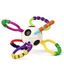 Sassy Grip & Rattle Ball - Multi Colour