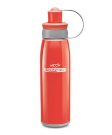 Milton Bravo Thermosteel Double Wall Insulated Sports Water Bottle Red - 500 ml