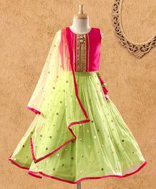 7fe590bbca1 Saka Designs Lehenga Choli Set Sequin Design - Pink Green