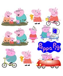 Party Propz Peppa Pig Cut Out Stickers Multicolour - 10 Pieces