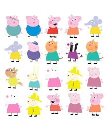 Party Propz Peppa Pig Theme Cut Out Multi Colour - 20 Pieces