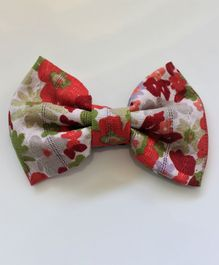 Many Frocks & Big Floral Bow - Red