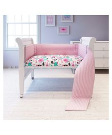 Fancy Fluff Cot Full Bumper Princess Design - Pink