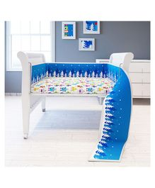 Fancy Fluff Cot Full Bumper Robot Design - Blue