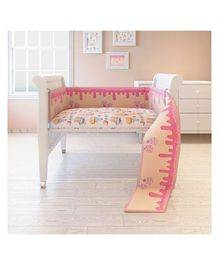 Fancy Fluff Cot Full Bumper Candy Land Design - Pink & Peach