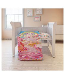 Fancy Fluff Cotton Cot Comforter Candyland Theme - Pink