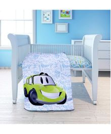 Fancy Fluff Cotton Cot Comforter Travel Theme - White