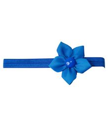 Keira's Pretties Elegant Headband With Flower Applique - Blue