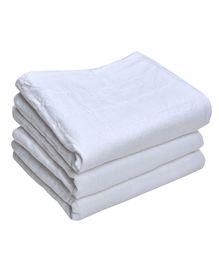 MK Handicrafts Large Cotton Quilts Pack of 3 - White
