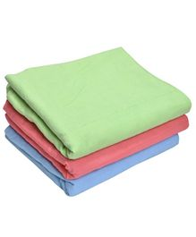 MK Handicrafts Cotton Quilts Pack of 3 - Green Coral Blue