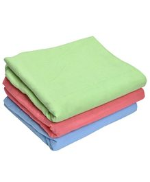 MK Handicrafts Large Cotton Quilts Pack of 3 - Green Coral Blue
