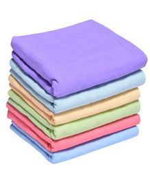 MK Handicrafts Cotton Quilts Pack of 6 - Purple & Multicolour