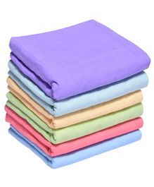 MK Handicrafts Large Cotton Quilts Pack of 6 - Purple & Multicolour