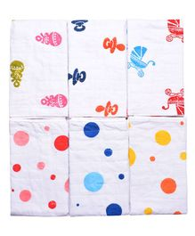 MK Handicrafts Cotton Quilts Multidesign Pack of 6 - Multicolour