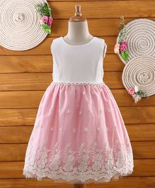 Amigo 7 Seven Star Embroidery Sleeveless Dress - Pink