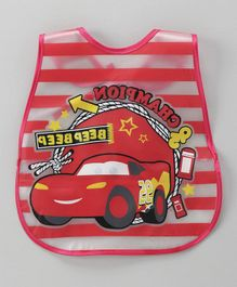 Alpaks Waterproof Apron With Pocket Car Print - Red