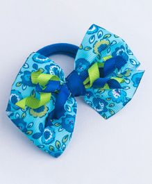 Ribbon Candy Floral Rubber Band With Korkers - Blue & Green