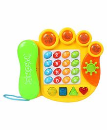 Planet of Toys Educational Telephone Toy - Yellow Green
