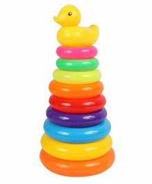 Planet of Toys Stacking Ring Tower - Multicolour