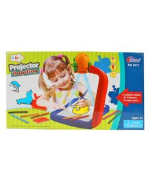 Planet of Toys 3 In 1 Projector Painting Set With Water Pens - Multicolour