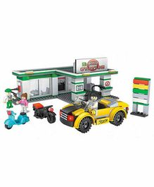 Planet of Toys Gas Station Building Blocks Multicolour - 342 Pieces