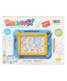 Planet of Toys Writing & Drawing Magnetic Board - Blue & Yellow