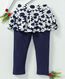 Mabaojd Floral Print Full Length Skegging - Blue
