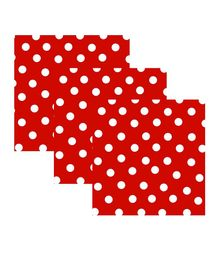 Party Anthem Paper Napkin (Red Polka) - Pack of 40 Sheets
