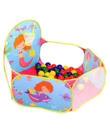 Playhood Activity Ball Pool With Balls Animals Print - Pink