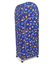 New Natraj 5 Shelved Storage Unit Teddy Print - Dark Blue