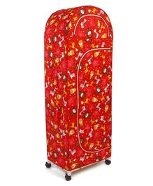 New Natraj 5 Shelved Storage Unit Teddy Print - Red