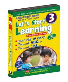 Let's Start Learning CD Pack of 3 - English & Hindi