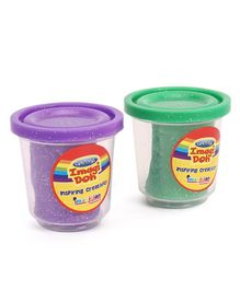 Imagician Playthings Glitter Clay Doh Pack of 2 - Purple Green