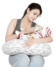 Lulamom Allergen Protected Nursing Pillow & Cover Printed - Grey