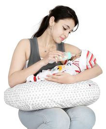 Lulamom Allergen Protected Nursing Pillow & Cover Polka Dot Print - Blue