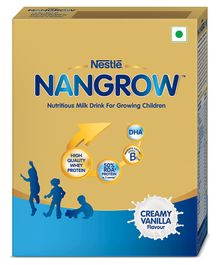 Nestle Nangrow Nutritious Milk Drink For Growing Children 2-5 years Creamy Vanilla 400 gm Bag-In-Box Pack
