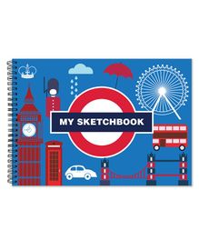 Little Jamun London Theme Sketch Book - Blue