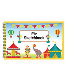 Little Jamun Sketch Book Carnival Print - Multicolour