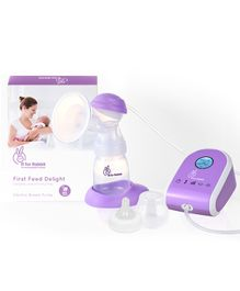 R for Rabbit First Feed Delight Safe and Comfortable Electric Breast Pump - Purple