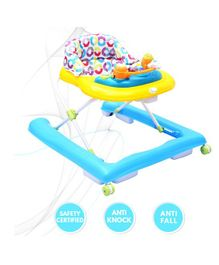 R for Rabbit Zig Zag Baby Walker -Yellow Blue