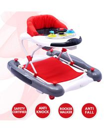 R for Rabbit Ringa Ringa Baby Walker - Red White