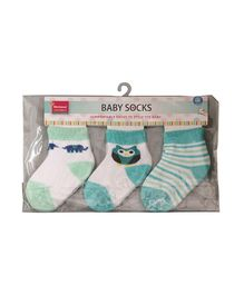 Morisons Baby Dreams Ankle Length Socks Butterfly Animal Pack of 3 - Green