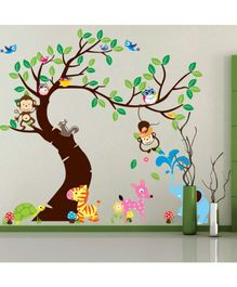 Syga Forest Themed PVC Wall Stickers - Multicolour